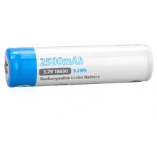 Аккумулятор EagleTac ET2500 белый с голубым горизонтально без фона