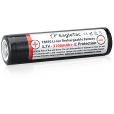 Аккумулятор EagleTac ET3100 темный на белом фоне
