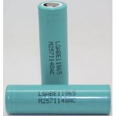 Литиевый аккмулятор LG ICR18650E1 3200 мАч внешний вид корпуса и контакта