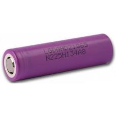 Литиевый аккмулятор LG ICR18650HD2C 2100 мАч внешний вид корпуса и контакта