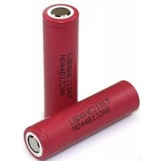 Литиевый аккмулятор LG ICR18650HE2 2500 мАч внешний вид корпуса и контакта