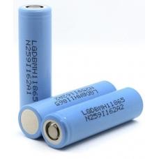 Литиевый аккмулятор LG INR18650 MH1 3200 мАч внешний вид корпуса и контакта