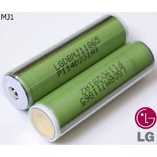 Литиевый аккмулятор LG INR18650 MJ1 3500 мАч внешний вид корпуса и контакта