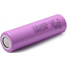 Аккумуляторы высокой емкости Samsung IСR18650-26FM 2600mah на белом фоне