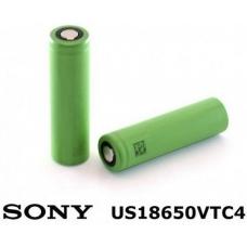 Аккумуляторы высокой емкости Sony US18650VTC4 2100mah на белом фоне