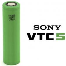 Аккумуляторы высокой емкости Sony US18650VTC5 2600mah на белом фоне