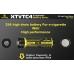 Описание тока отдачи и контактов аккумулятора Xtar XTVTC4 на темном фоне