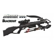 Мощный топовый арбалет Excalibur Matrix 380 Blackout с установленным прицелом и стрелами