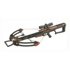 Мощный арбалет Man Kung MK-400 для охоты с установленным оптическим прицелом