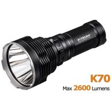 Поисковый фонарь Acebeam K70 в черном металлическом ко