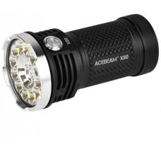 Мощный поисковый фонарик Acebeam X80 в металлическом корпусе