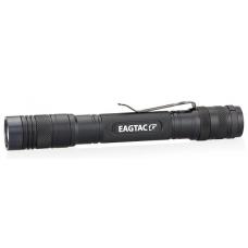 Туристический карманный фонарь черного цвета Eagtac D25A2 Clicky с клипсой для ношения