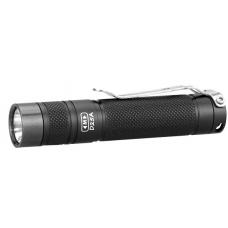 Карманный светодиодный фонарь Eagtac D25A Clicky черного цвета с стальной клипсой