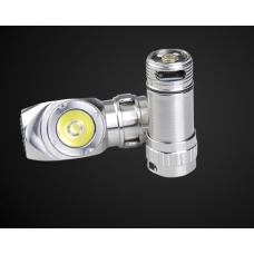 Миниатюрный налобный фонарик на светодиодах