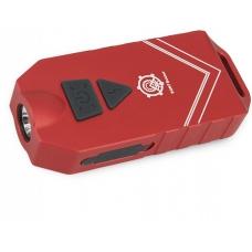 Наключный фонарик в красном цвете корпуса