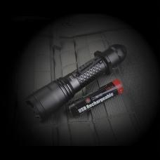 Карманный фонарь в корпусе из алюминия и аккумулятором