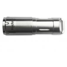 Наключный фонарик серебрянного цвета