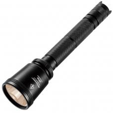 Тактический поисковый фонарь в черном алюминиевом корпусе с анодированием