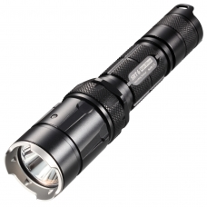 Тактический фонарь в черном алюминиевом корпусе с анодированием