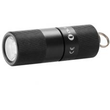 Наключный фонарик черного цвета