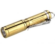Миниатюрный фонарик золотого цвета