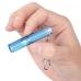 Голубой фонарик Olight i3S EOS в руке