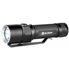 Перезаряжаемый фонарь для EDC черного цвета с стальной клипсой