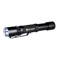 Черный туристический фонарь на пальчиковых батарейках