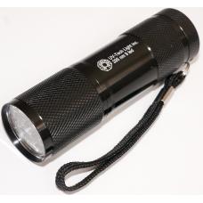 Компактный ультрафиолетовый фонарь с 9 диодами
