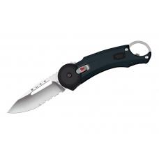 Нож Redpoint для выживания с черной рукоятью с резиновой накладкой и клипсой