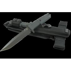 Боевой нож итальянского отряда специального назначения в черном цвете