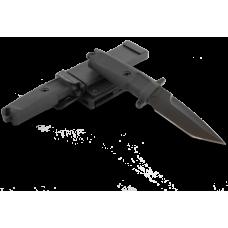 Компактный вариант ножа итальянского спецназа в черном цвете с ножнами