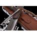 Профессиональный охотничий нож в комплекте с шипом и ножнами их коричневой кожи