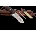 Профессиональный охотничий нож в комплекте с шипом и точилкой и ножнами их коричневой кожи
