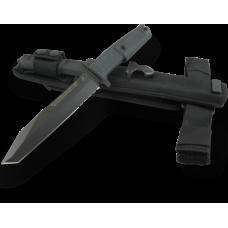 Многоцелевой пехотный нож Extrema Ratio Fulcrum в черном исполнении с тактическими ножнами
