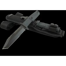 Компактная модель пехотного ножа Extrema Ratio Fulcrum S в черном цвете с тактическими ножнами