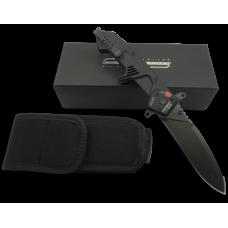 Складной нож черного цвета с индикатором раскрытия лезвия Extrema Ratio MF3 Ingredior D и чехлом