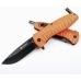 Туристический нож Ganzo G622-FO-1 с фонариком в рукояти