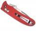 Клипса на корпусе ножа красного цвета предназначена для ношения