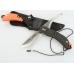 Нож Ganzo G802 с черной и оранжевой рукоятью