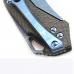 Титановая клипса ножа Microtech Starlord CFi Apocaliptic 2-Tone с синим анодированием