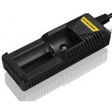 Универсальное зарядное устройство Nitecore i1 в черном пластиковом корпусе