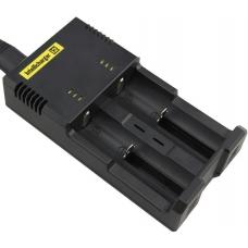 Универсальное зарядное устройство Nitecore i2 в черном пластиковом корпусе