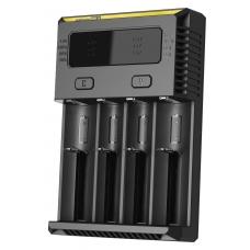 Универсальное зарядное устройство Nitecore New i4 в черном пластиковом корпусе