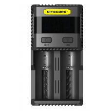 Универсальное зарядное устройство Nitecore SC2 в черном пластиковом корпусе