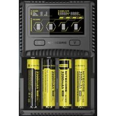 Универсальное зарядное устройство Nitecore SC4 в черном пластиковом корпусе