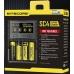 Красочная упаковка зарядного устройства Nitecore SC4